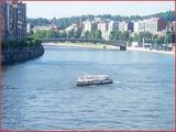 """<font color=""""blue""""><font size=""""+1""""> Liège La Meuse et le pont du Roi Albert à Liège</font></font>"""
