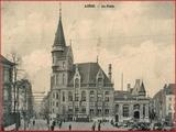 """<font color=""""blue""""><font size=""""+1""""> Liège Le réseau du Tramway de Liège est créé dès 1871. On voit sur cette carte postale d avant la Première Guerre mondiale une rame du tramway devant la Poste</font></font>"""