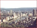 """<font color=""""blue""""><font size=""""+1""""> Liège Vue de la ville </font></font>"""