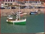 """<font color=""""blue""""><font size=""""+1""""> Bateaux de pêche au port d Erquy</font></font>"""