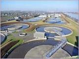 """<font color=""""blue""""><font size=""""+1""""> Station epuration Hermalle-sous-Argenteau Oupeye Liège.Vue des bassins biologiques et de décantation de la station d épuration de Oupeye</font></font>"""