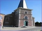 """<font color=""""blue""""><font size=""""+1""""> Eglise Siméon à Houtain Saint-Siméon</font></font>"""
