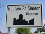 """<font color=""""blue""""><font size=""""+1""""> Panneau didactique à Houtain Saint-Siméon</font></font>"""