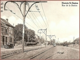 """<font color=""""blue""""><font size=""""+1""""> Houtain Saint-Siméon ancienne gare des trams, rue de la station. </font></font>"""