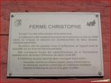 """<font color=""""blue""""><font size=""""+1""""> panneau didactique - ferme  Christophe </font></font>"""