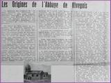 """<font color=""""blue""""><font size=""""+1""""> Vivegnis - Abbaye de Vivegnis la maison des fidèles de 1500 à 1862  </font></font>"""
