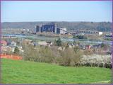 """<font color=""""blue""""><font size=""""+1"""">vue de vivegnis en arrière plan ancienne usine Cherstal </font></font>"""