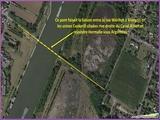 """<font color=""""red""""><font size=""""+1"""">  Vue aérienne de la situation de l ancien pont de Vivegnis.</font></font>"""