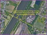 """<font color=""""red""""><font size=""""+1"""">  Vue aérienne de la situation de l ancien pont de Vivegnis..</font></font>"""